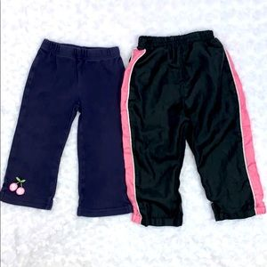 Baby Girls Jogging & Wind Pants Bundle